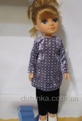 Комплект велюровий з теплою сукнею Dutunka