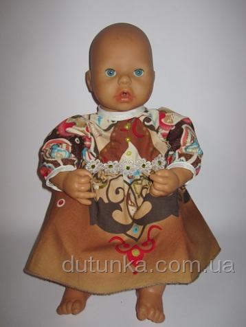 Сукня для ляльки Бебі Анабель Літнє Dutunka