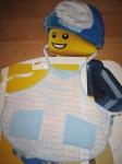 Фартук с карманами и колпак  для мальчика (Ф56) Dutunka