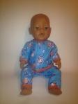 Теплая баевая пижамка для куклы Беби борн (ББ771) Dutunka
