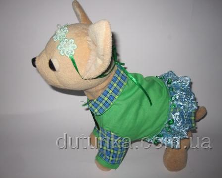 Сукня для інтерактивної собачки Чи Чи Лав Зелена галявина Dutunka