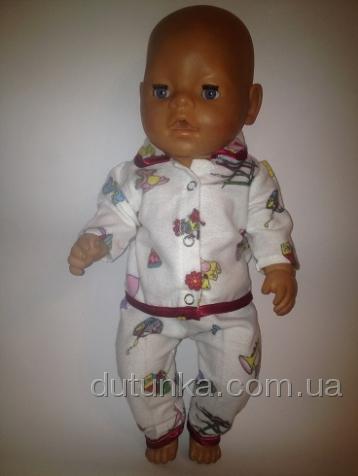 Баевая пижамка  для пупса  Беби Борн Тигренок (ББ931) Dutunka