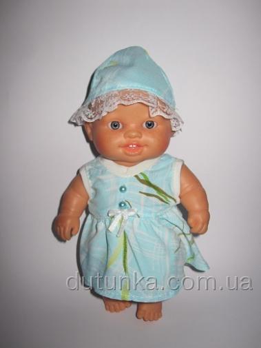 Літнє платтячко з капелюшком для пупса Паола Рейна Мімоза Dutunka