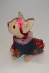Платье с повязочкой для интерактивной собачки Джинсовое с пелеринкой (ЧЧЛ85) Dutunka