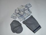 Летний комплект для пупса мальчика Беби Борн Модная клетка(ББ974) Dutunka