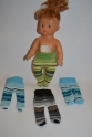 Смугасті колготки для лялечки 28 см Зебра Dutunka