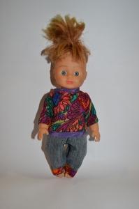 Брючний комплект для лялечки 28 см Каштанчик Dutunka