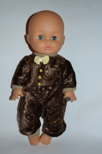 Комбінезон-чоловічок для ляльки Коричневий Dutunka