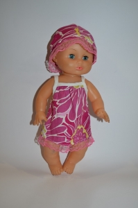 Плаття літнє для пупса 35 см Рожеве Dutunka