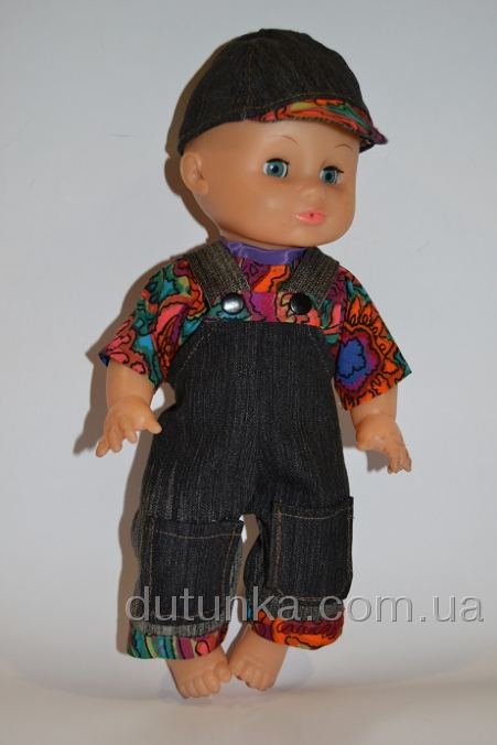 Комплект одягу для пупса з джинсами на лямочках Ошатний Dutunka