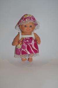 Літній сарафанчик з панамочка для пупса Паола Рейна Рожевий Dutunka