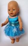 Летнее платье для пупса Беби борн Эльза голубая (ББ731) Dutunka