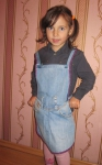 Фартушек-растишка  для девочки Dutunka