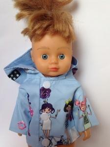 Ляльковий плащ для пупса зростанням 28 см Блакитний (немає в наявності) Dutunka
