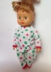 Кукольная пижамка для пупса 28 см  Веселые горошки (К28-77) Dutunka