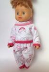 Теплая пижама для пупса 28 см Розовые мишки (К28-52)  Dutunka