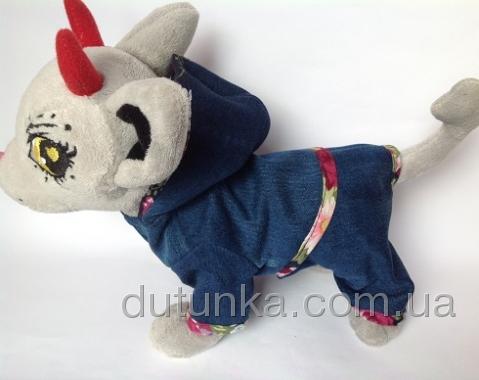 Комплект джинсовий для собаки Чі-чі Лав Dutunka