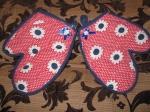 Цветочные рукавички кухонные для девочки (П3)нет в наличии Dutunka