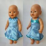 Стильное платье для пупса-девочки Беби борн Золушка (ББ962) Dutunka