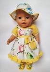 Нарядное летнее платье для пупса-девочки Беби Борн Солнечный день (ББ734)  Dutunka