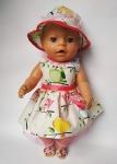 Нарядное платье с панамкой для пупса-девочки Беби Борн Воздушное (ББ704)  Dutunka