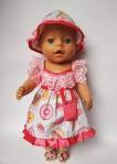 Нарядное платье для пупса-девочки Беби Борн Конфетное (ББ735)  Dutunka