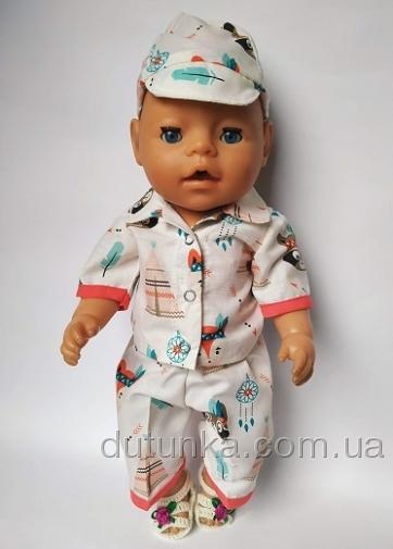 Літній комплект для пупса-хлопчика Baby Born З пташками (немає) Dutunka