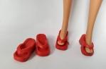 Красные шлепки для Барби (Б322) Dutunka