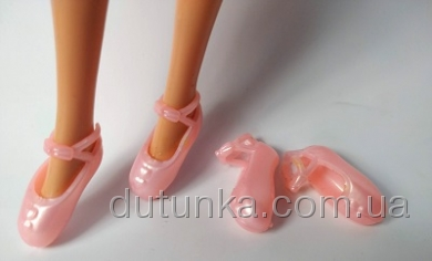 Рожеві пуанти для Барбі Dutunka