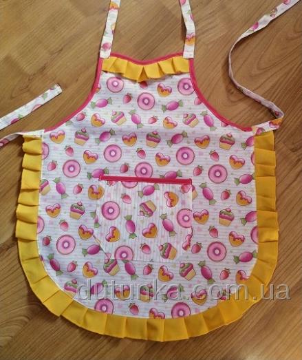 Фартух дитячий для дівчинки 5-10 років Цукерковий (немає в наявності) Dutunka