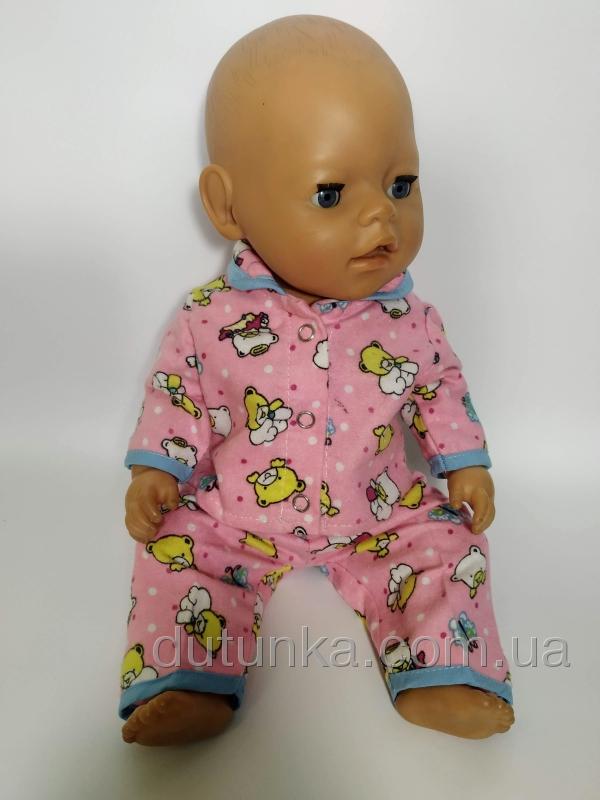 Піжамка для пупса Baby Born Рожеві ведмедики Dutunka