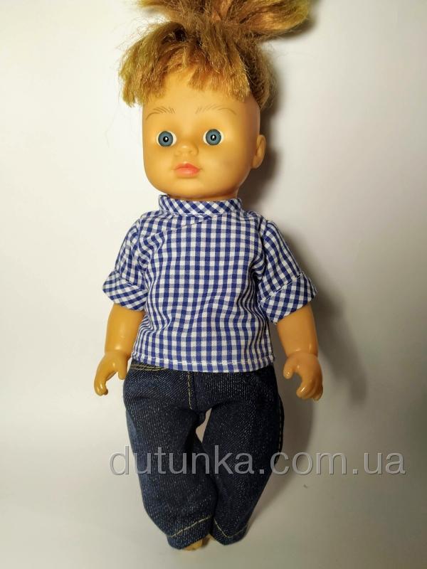 Комплект одягу для ляльки 28 см Модна клітинка Dutunka