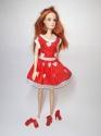 Сукня для ляльки Барбі Червона Dutunka
