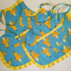 Комплект фартушків мама+дочка Банани Dutunka