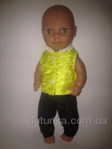 Комплект одежды с демисезонной жилеточкой Цыпленок (К38-150) Dutunka
