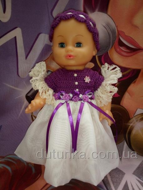Бальное платье для пупса 35 см Фиона (К36-55) Dutunka
