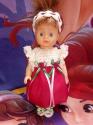 Ошатне плаття для лялечки зростом 28-30 см Казкове (в асортименті) Dutunka