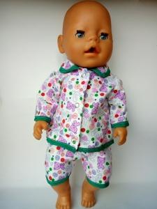 Лялькова піжама для пупса-дівчинки Baby Born Мішка Dutunka