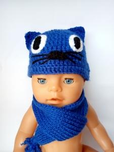 Комплект в´язаний для пупса Бебі Борн Синій Кіт (під замовлення) Dutunka