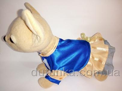 Атласное платье для собачки Чи Чи Лав Электрик (ЧЧЛ150) Dutunka