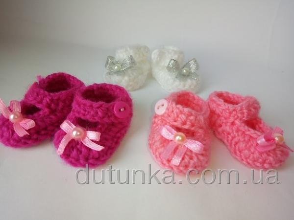 Теплі туфельки-півботиночки для лялечки Топітопікі Dutunka