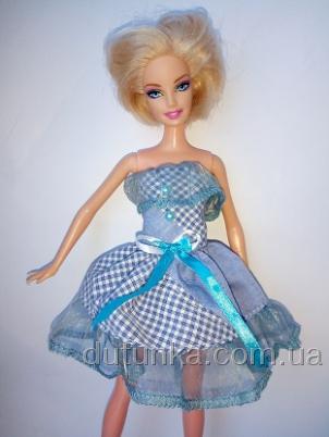 Платье для куклы Барби Голубинка (Б225) Dutunka