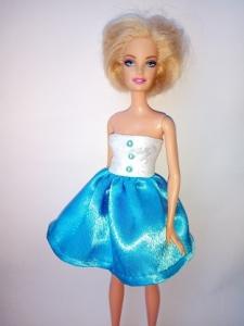 Сукня для ляльки Барбі Блакитне Dutunka