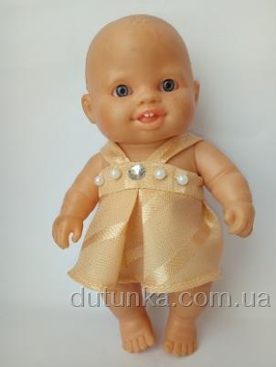 Платье летнее для пупса Паола Рейна Персиковое  (ПР99) Dutunka