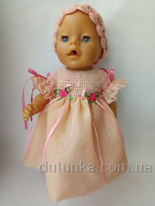 Бальное платье для пупса Беби борн Аврора (ББ682) Dutunka