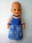Платье для пупса Беби борн Принцесса Эльза (ББ535) Dutunka