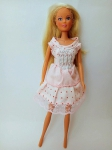 Платье для куклы Барби Розовое лето (Б108) Dutunka