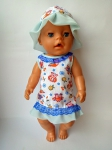 Летнее платье  с панамкой для куклы Беби Борн Летнее(ББ785)  Dutunka