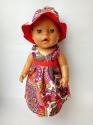 Платье летнее с панамкой для пупса Беби борн Яркое (ББ603)  Dutunka