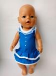 Летнее платье для куклы Беби борн  Электрик (ББ970)  Dutunka